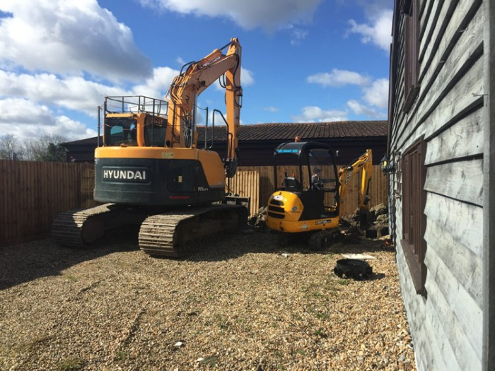 Groundworks and plant hire